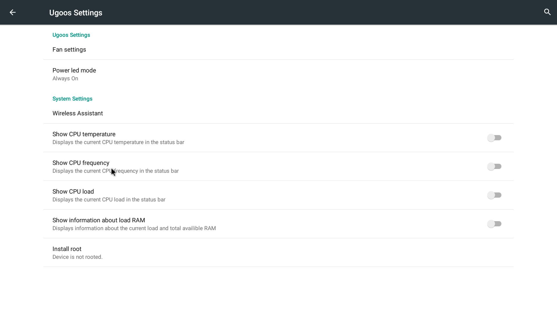Ugoos UT4 RockChip 3368 firmware version 0 0 2b release